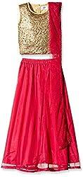 Atayant Girl Lehenga Choli (ATAYK_009_4:5YR_Gold:Dark Pink_L)