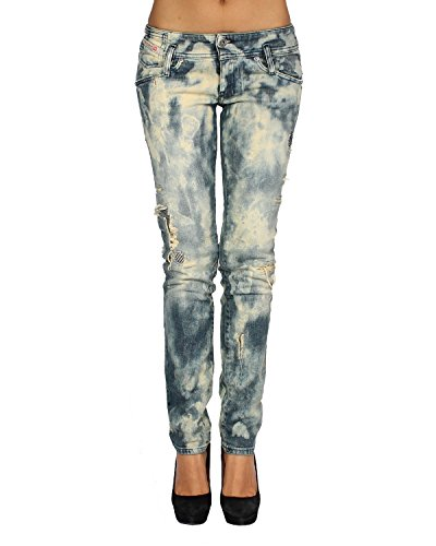 DIESEL - Jeans da Dona MATIC 881P - Slim - Tapered - Stretch - blu, W26 / L30