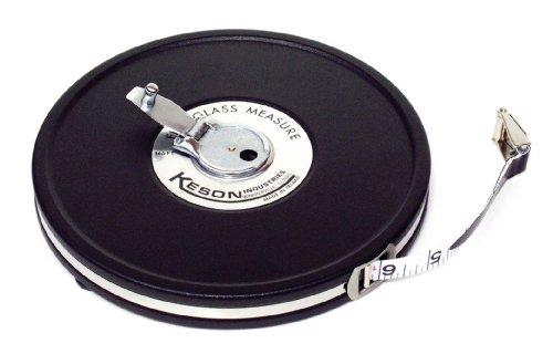 Keson MC1050 50 Feet Closed Metal Housing Fiberglass Measuring Tape in Tenths