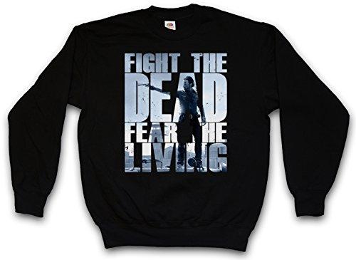 FIGHT THE DEAD FEAR THE LIVING III PULLOVER SWEATER SWEATSHIRT MAGLIONE - Daryl Dixon The Walking Biters Dead Walkers Zombies Zombi Taglie S - 5XL