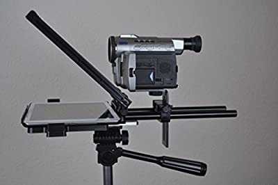 Caddy Buddy Teleprompter - Simple, Professional, Portable  Use any tablet,  iPad or phone  70/30 Beam Splitter Glass