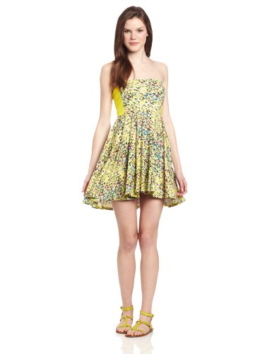 485b5d1042 Cheap Hurley Juniors Gemma Fit and Flare Dress Nost Citrus Yellow Large