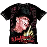A Nightmare On Elm Street - Writing On The Wall Big Print Subway Mens T-Shirt In Black