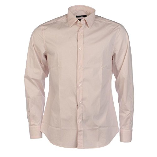 Zegna Camicia a maniche lunghe in cotone rosa pallido, BZ Pale Pink 399,06 cm/ 39,37 cm