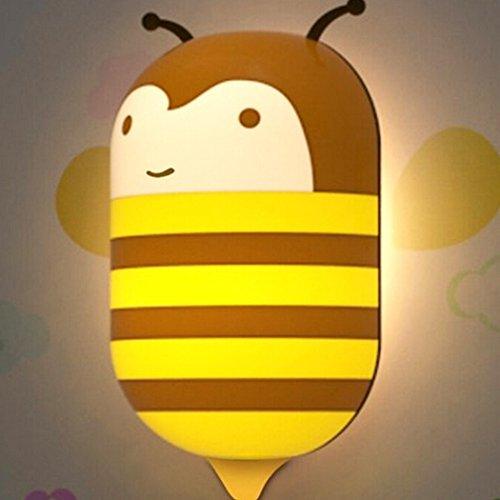 Topcabin Intelligent Light Sensor Wall Night Lights Nightlight Creative (bees)