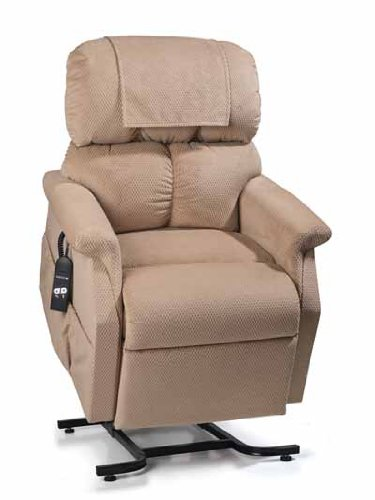 Electric Power Recline 3 Position Riser Lift Chaise Easy Motion Recliner Chair - PR-501JP Comforter Junior Petite 300lb Capacity by Golden Technologies Tan Color