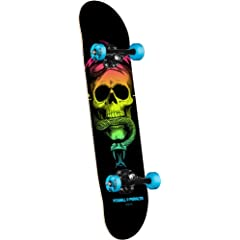 Buy Powell-Peralta Blacklight Skull and Snake Complete Skateboard, Blue by Powell-Peralta