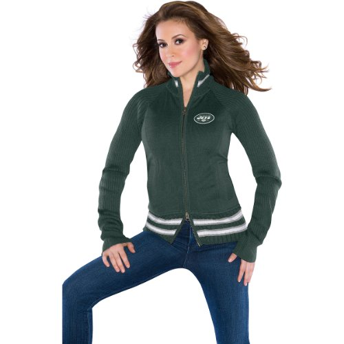 Touch by Alyssa Milano New York Jets Women's Sweater Mix Jacket XX Large at Amazon.com