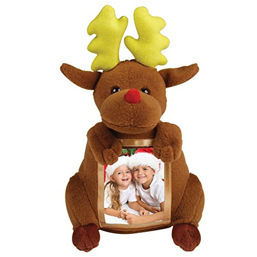 Christmas Reindeer Plush Picture Frame - 1
