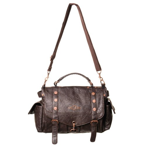 Banned Clothing Steampunk Hand Bag With Bronze Details