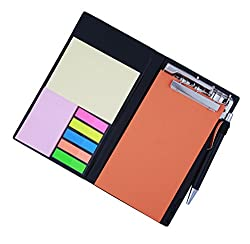 COI MEMO NEON RUST NOTE PAD/MEMO NOTE BOOK WITH STICKY NOTES & CLIP HOLDER IN DIARY STYLE