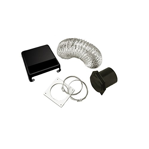 Westland VID403AB Deluxe Dryer Vent Kit (Black Vent Cover) (Rv Dryer Vent Cover compare prices)