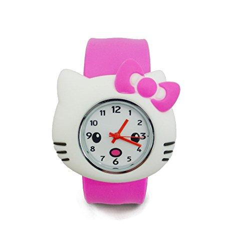 Cute Cartoon Kids Waterproof Watch (Rose Red)