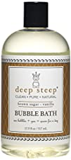 Deep Steep Bubble Bath Brown Sugar Vanilla 17.5 Ounce