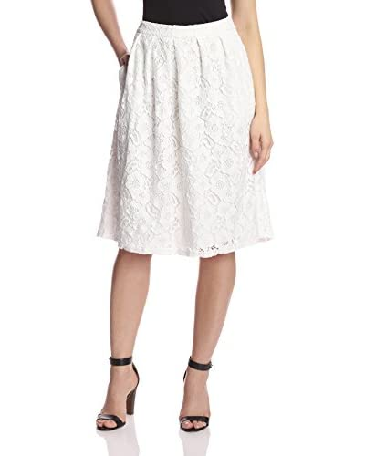 Allison Collection Women's Floral Lace Midi Skirt