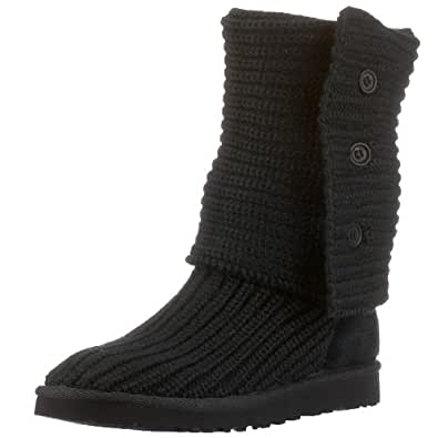 UGG Australia Women's Classic Cardy Black Wool Boot 5 M US