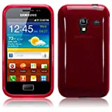 Samsung Galaxy Ace Plus S7500 TPU Gel Skin Case / Cover - Red Part Of The Qubits Accessories Rangeby TERRAPIN