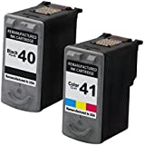 Valuetoner Remanufactured Ink Cartridge Replacement For Canon PG-40 CL-41 0615B002 0617B002 (1 Black, 1 Color) 2 Pack Compatible With PIXMA iP1600 iP1700 iP1800 iP2600 MP140 MP150 MP160 MP170 MP180 MP190 MP210 MP450 MP460 MP470 MX300 MX310 Printer