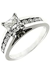 1.40 Ct White Gold Princess Cut Diamond Engagement Ring 14 Kt