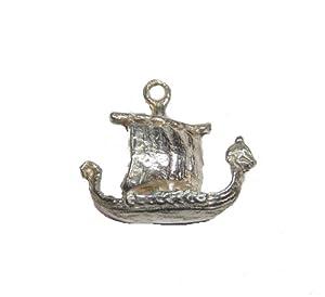 Sterling Silver Viking Ship Pendant