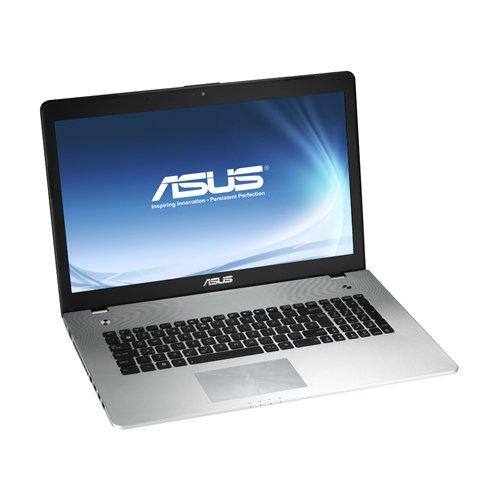 Asus N76VB-T4053H Notebook Display da 17.3 Pollici FullHD, Processore Intel Core I7-3630QM, 16 GB RAM DDR3, 2x HDD da 750GB, Windows 8, Nero/Silver