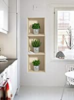 Ambiance-sticker Set Vinilo Decorativo 3 Uds. 3D Effect Herbs In Pot