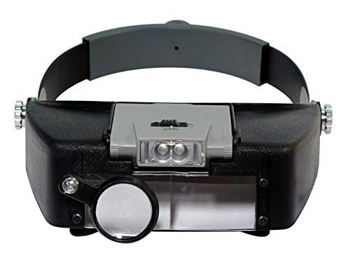 SE MH1047L Illuminated Multipower LED Binohead Magnifier picture