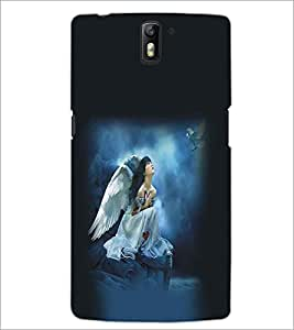 ONE PLUS ONE ANGEL GIRL Designer Back Cover Case By PRINTSWAG