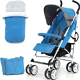 Valued Petite Star Zukoo Stroller in Lagoon - Cleva Edition ChildSAFE Door Stopz Bundle