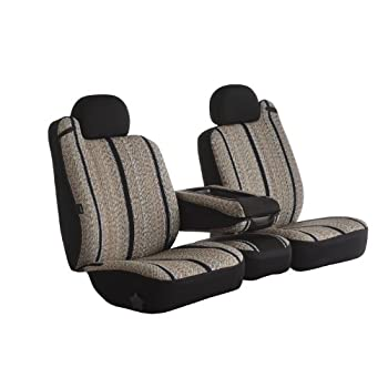 BLACK SEAT COVERS WITH GREY PIPING TOYOTA RAV 4 00-05