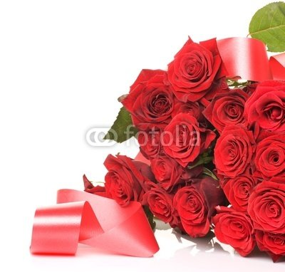 "Wallmonkeys Peel and Stick Wall Decals - Big Red Roses Bouquet - 24""W x 23""H Removable Graphic"
