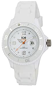 ICE-Watch - Montre Mixte - Quartz Analogique - Ice-Forever - White - Small - Cadran Blanc - Bracelet Silicone Blanc - SI.WE.S.S.09