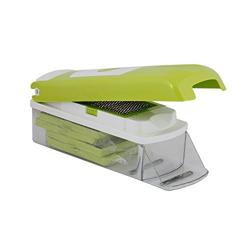 Classic Onion Chopper for Kitchen chopping needs. Vegetable and Fruit chopper with 5 Sharp Blades With Storage Container and Non-Skid Base for all chopping needs. Perfect VEGETABLE Slicer (Food Chopper Vidalia compare prices)