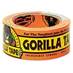 Gorilla Glue GOR6035182 Abrasion Resistance Duct Tape, 35 yards Length, 1-7/8″ Width, Black (Pack of 5)