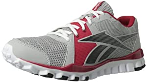 Reebok Men's Realflex Advance Cross-Training Shoe,Steel/Red/Black/White,10 M US