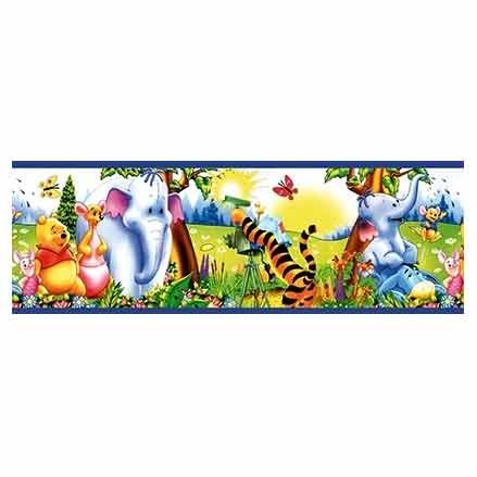 winnie pooh and friends wallpaper border by lux at the the wallpaper store. Black Bedroom Furniture Sets. Home Design Ideas