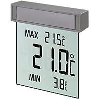 TFA 30.1025 Vision Thermomètre numérique de fenêtre avec affichage à gros caractères facilitant la lecture de la température extérieure