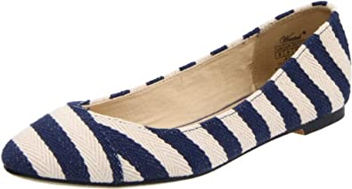 Wanted Shoes Women's Ahoy Skimmer,Navy,6.5 M US