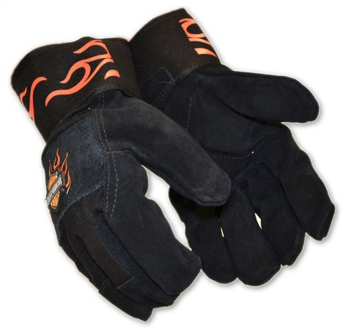 Harley-Davidson Leather Kevlar Work Gloves (L)