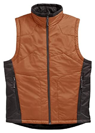 Tri-mountain Men windproof/water resistant nylon vest with microfiber quilted lining. 8240 - BURNT ORANGE/CHARCOAL_XL