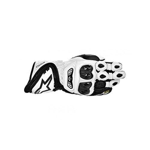 Alpinestars GP Tech Leather Gloves , Gender: Mens/Unisex, Primary Color: White, Size: Lg, Distinct Name: Black/White, Apparel Material: Leather 3556613-21-L