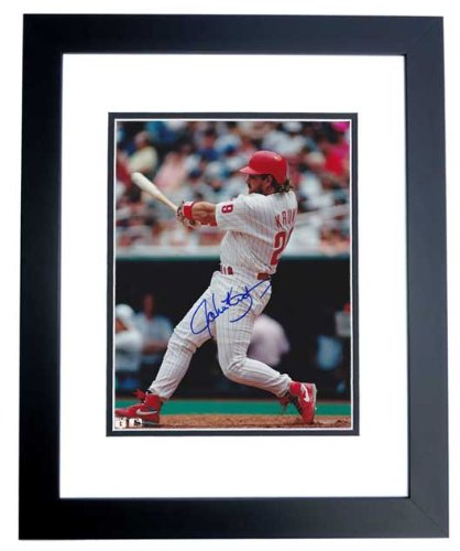 John Kruk Autographed Philadelphia Phillies 8x10 Photo BLACK CUSTOM FRAME at Amazon.com