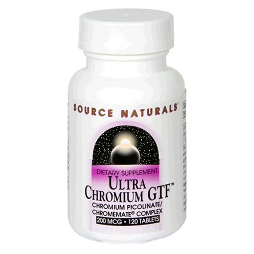 Source Naturals Chromium GTF (Ultra) 200mcg, 120 Tablets (Pack of 3)