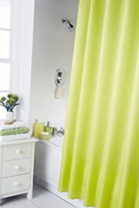 Spectrum 180 x 180 cm Shower Curtain and Rings Set, Lime