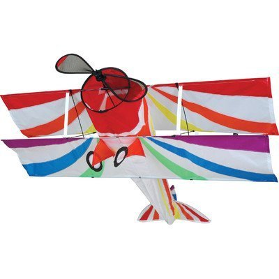 Rainbow Bi-Plane Kite by Premier Kites