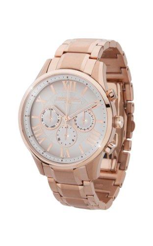 Jorg Gray JG1500-23 - Reloj analógico de cuarzo para mujer, correa de acero inoxidable color dorado