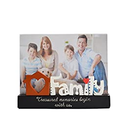 Gift Garden 5x7 Unique Family Picture Frame for Home Decor