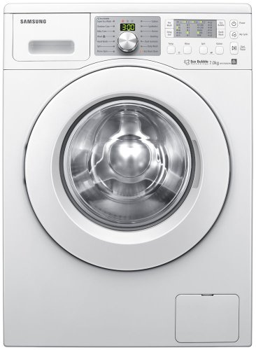 Samsung WF0704W7W 7kg Bubble Wash Technology Washing Machine, 1400rpm, White