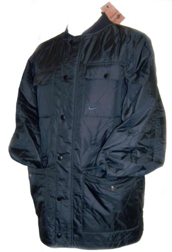 Nike Mens Black Quilted Winter Jacket Size XL
