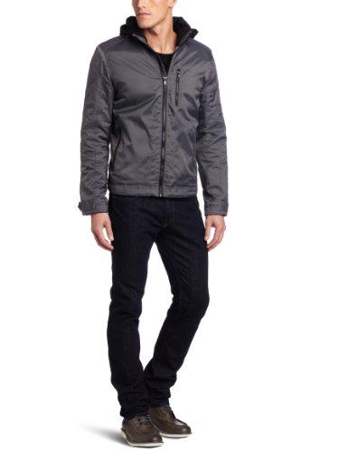 Calvin Klein Jeans Men's Nylon Hooded Jacket,